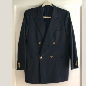 Vintage Gucci Navy Wool Blazer Jacket Size 50